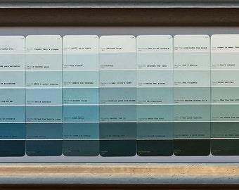 Original Green Scale Paint Chip Word-Wall Art