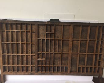 Quick View. Vintage Wood Hamilton Printers Tray ...