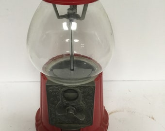 Vintage Red Gumball Candy Vending Machine
