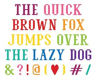 Vintage Alphabet PDF Pattern