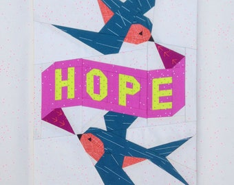 HOPE tattoo quilt PDF pattern