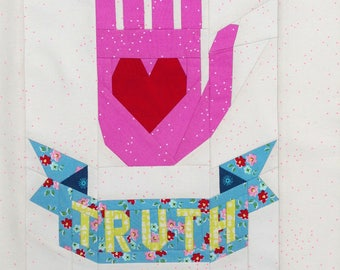TRUTH tattoo quilt PDF pattern