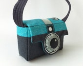 Retrotastic Camera Camera Bag - Fabric panel