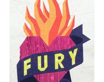 FURY tattoo quilt PDF pattern