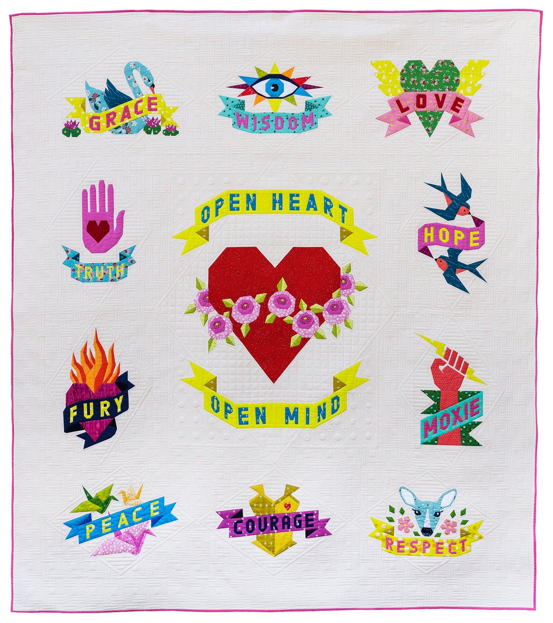 TATTOO QUILT pdf COMBO  with Peace Crane option image 0