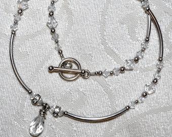 Sterling Silver and Swarovski Crystal Necklace