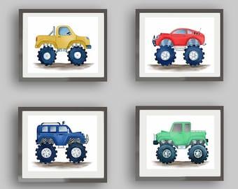 Monster Truck Prints Etsy