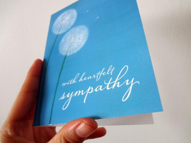 With Heartfelt Sympathy Dandelion Condolence Card