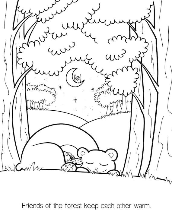 A GRANEL 15 LIBROS libro de colorear bosque actividad de   Etsy