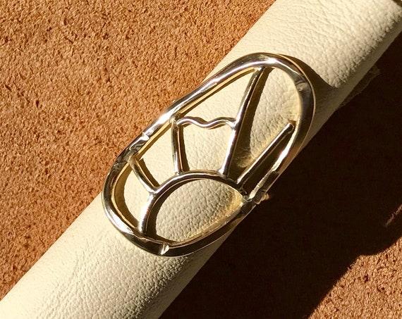 M O R N I N G / Rising Sun Landscape Statement Ring