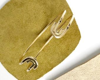 J A N E ~~ Rainbow Arc Symmetrical Brass Cuff