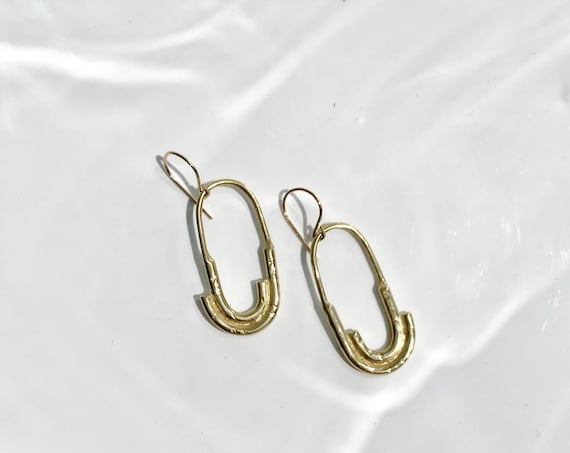 R O A M ~~ Modern Loop Geometric Dangle Earrings