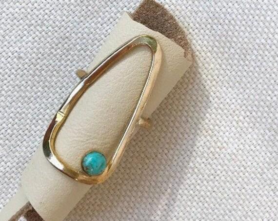 P R I M I T I V E  Hammered Brass Geometric Statement Ring