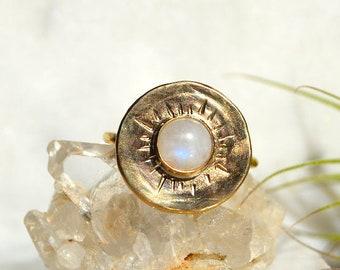 S U N D I A L  Spherical Gemstone Statement Ring