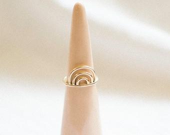 R A I N B O W   Geometric Arc Ring