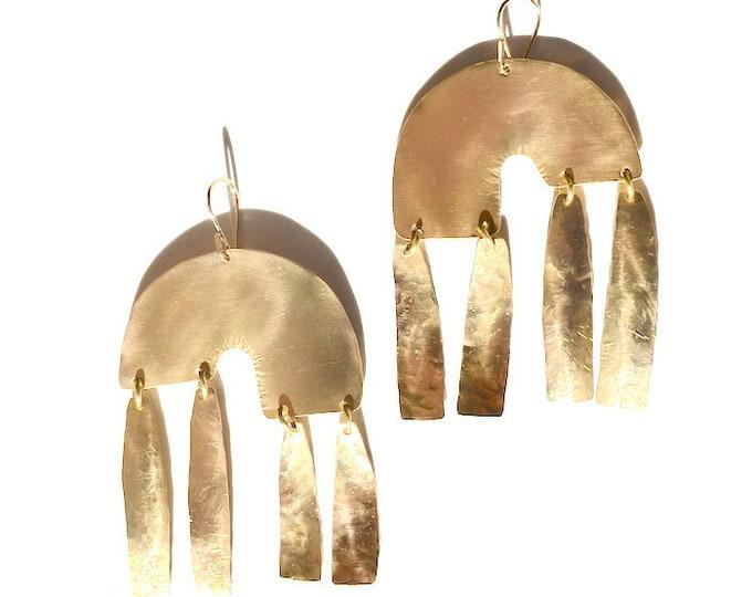 Featured listing image: D a y d r e a m e r s ⋓⋒ Rainbow Arch Statement Earrings