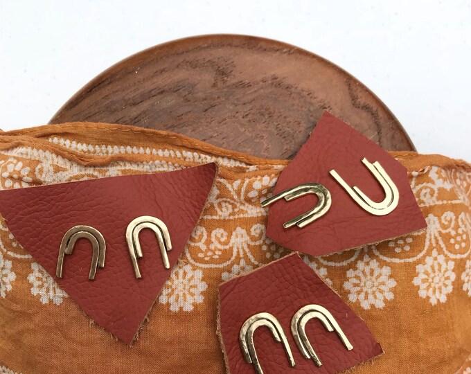 Featured listing image: M A G N E T S  I|I| Geometric Arc Bar Stud Earrings