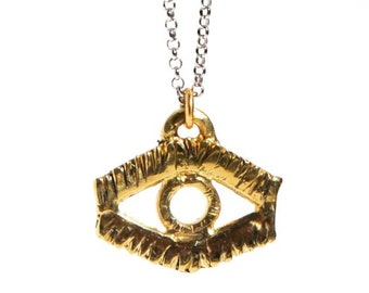 Sight // Abstract Eye Pendant Necklace