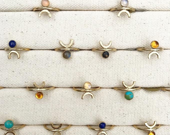 Featured listing image: P E O P L E Geometric Gemstone Simple Ring