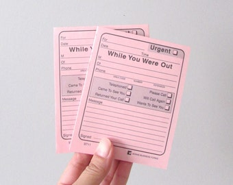 50 sheets while you were out pink note pad / memo / message writing pad