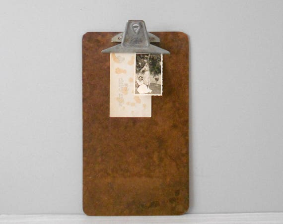 long wooden office writing clipboard // repurposed memo board