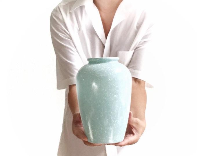 speckled light blue glass flower vase | housewarming gift