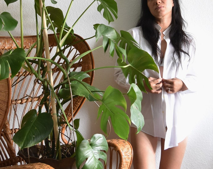 women's preppy collar white button up boyfriend shirt blouse   medium long cuffed sleeve secretary shirt