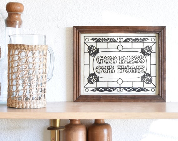wall hanging framed god bless our home picture wall hanging