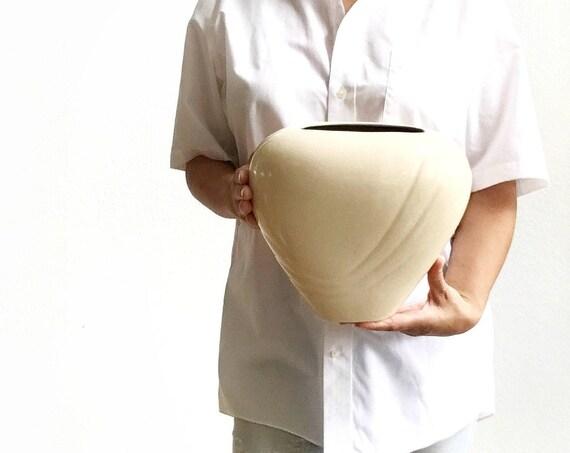 art deco royal haeger white ceramic pottery flower vase | housewarming gift