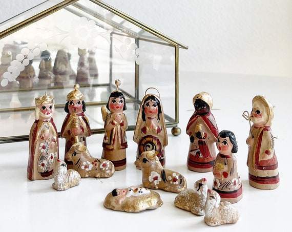 vintage Christmas baby Jesus nativity set | Xmas ornament