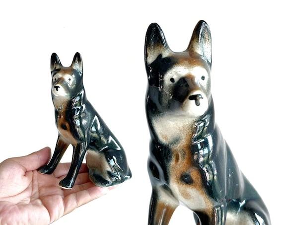 black porcelain dog figurine sculpture