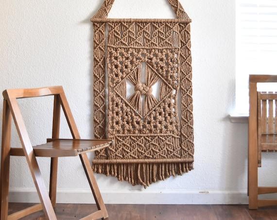 large modern fiber art textile weaving wall hanging woven macrame
