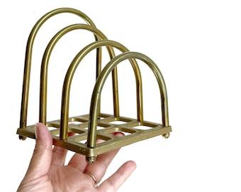 large gold metal office storage file | paper holder
