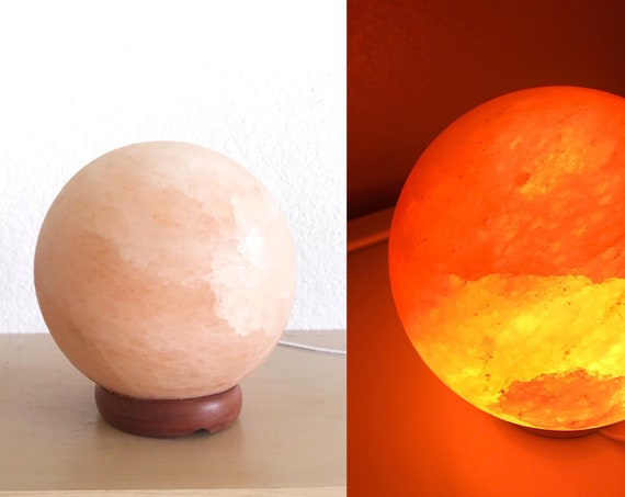 round quartz rock night light / natural crystal rock stone lamp
