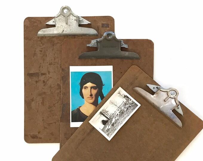 back to school office vintage wood clipboard // message board