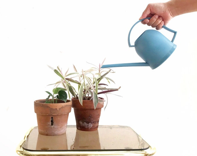 small vintage plastic watering can