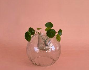 2 Vases 2697-B20 Glass Round