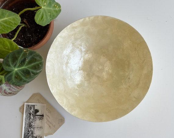 large natural capiz sea shell tray bowl / mother of pearl dish