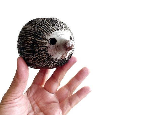 vintage briglin stoneware hedgehog figurine sculpture piggy bank | coin bank