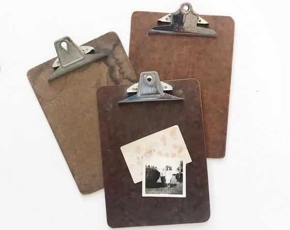 vintage office wooden clipboard // message board