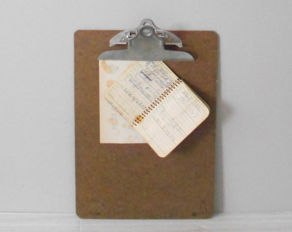 back to school vintage wood clipboard // message board