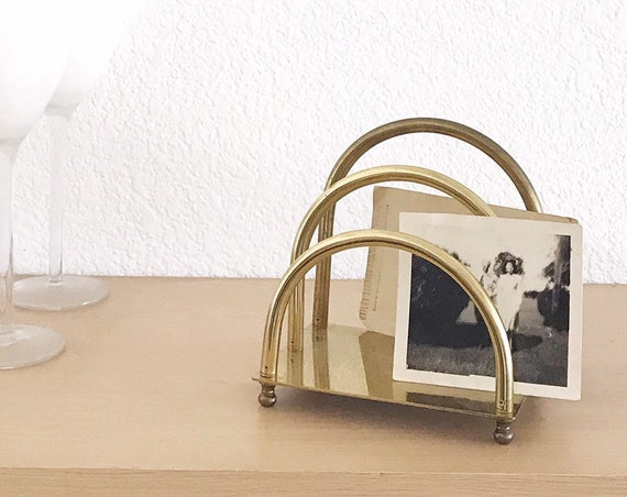 brass office letter holder file | divider mail sorter organizer