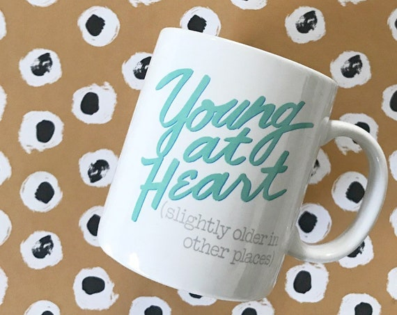 vintage white ceramic birthday valentines day coffee mug | funny drinking cup
