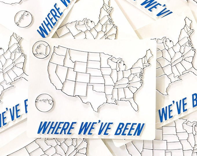 where have you been traveling United States map   usa interactive fill in map   gift for traveler