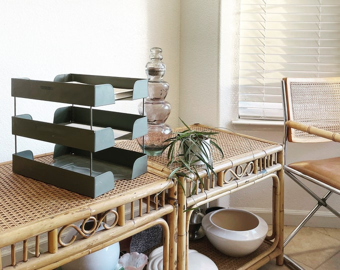 industrial tiered gray metal wire paper file tray cabinet