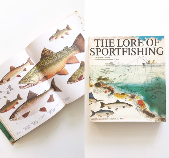 fishing reference coffee table book | the lore of sportfishing hardcover | illustrated fish plates | gift for fisherman