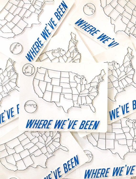 where have you been traveling United States map | usa interactive fill in  map | gift for traveler