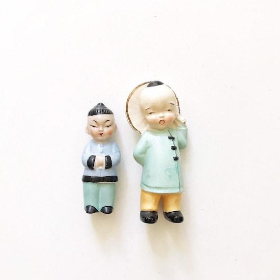 vintage porcelain japanese asian boy doll figurine   oriental japan toy