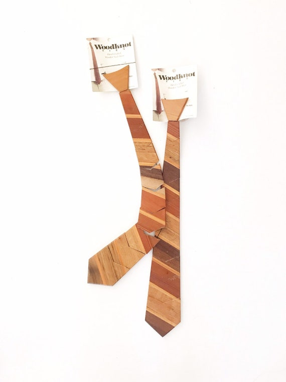 vintage men's wood knot neckties | wooden bow tie