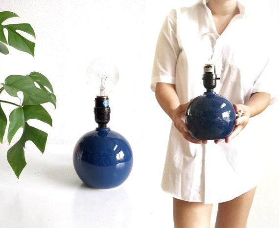 modern pop blue ball table lamp / ceramic orb light